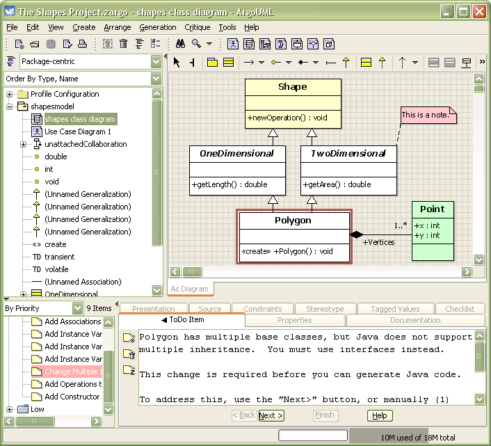 argouml is the leading open source uml modeling tool and