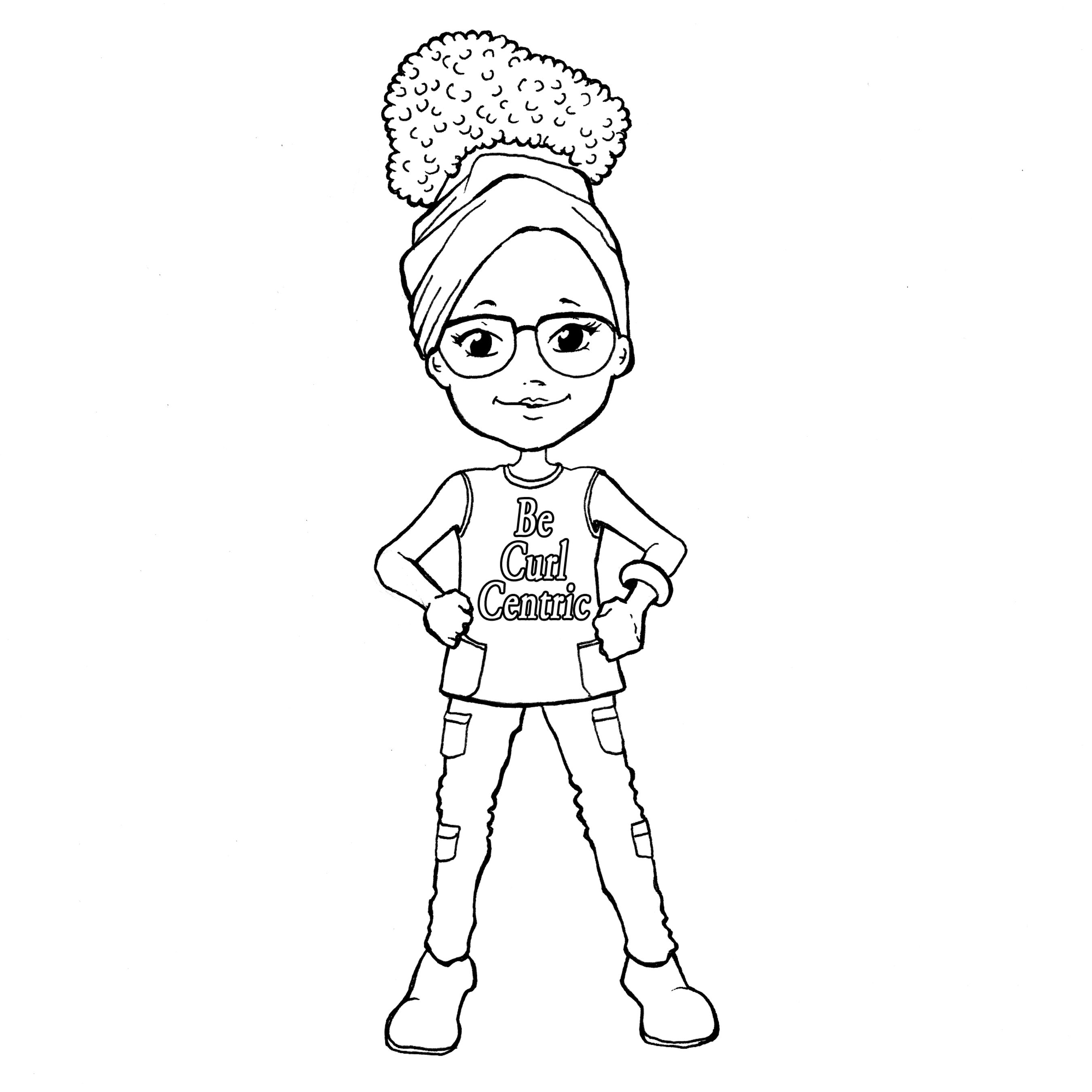 Ybnkids A New Coloring Book For Curly Cuties Free Download Coloring Pages For Girls Coloring Pages Coloring Books