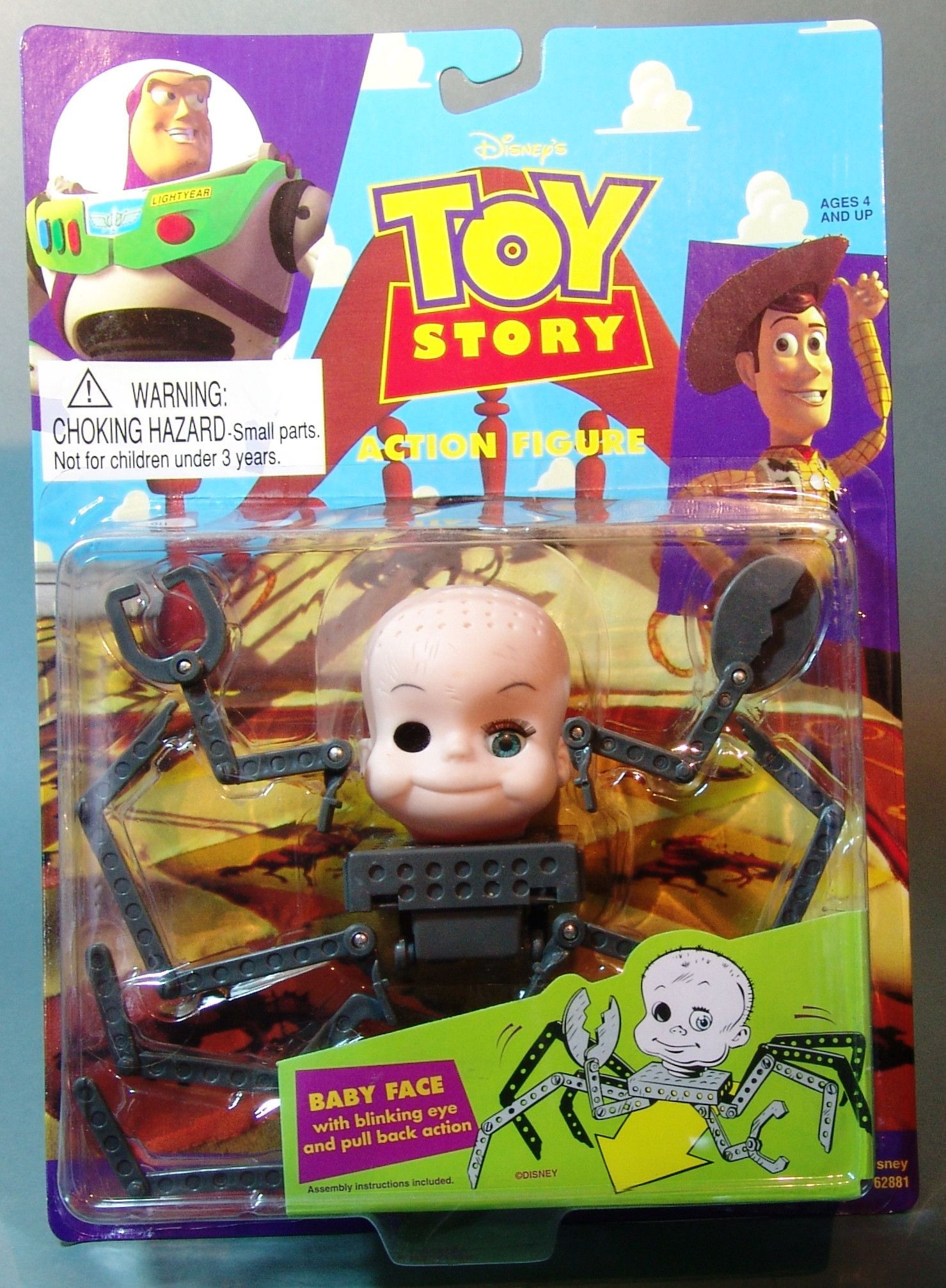 1995 toy story baby face action figure toy story baby