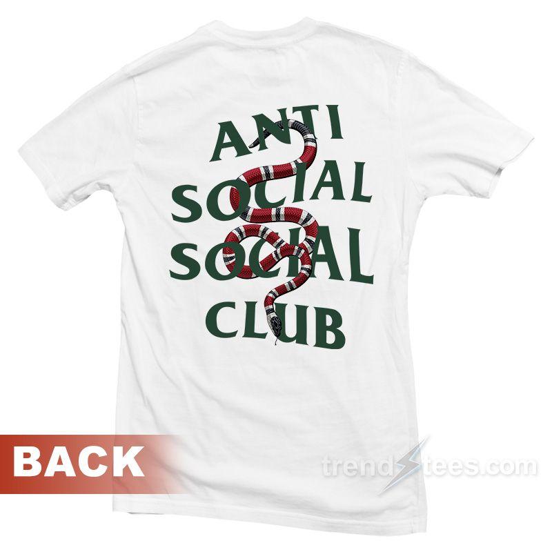 8afa6e07a ASSC Anti Social Social Club x Gucci Snake Custom Painted