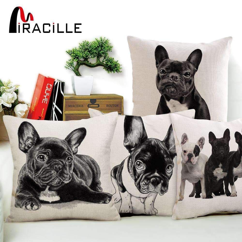 Cushion Cover Home & Garden Miracille Square Dachshund Cushion Cover Dog Printing Linen Throw Pillows For Car Sofa Home Decorative Pillowcase Decoration