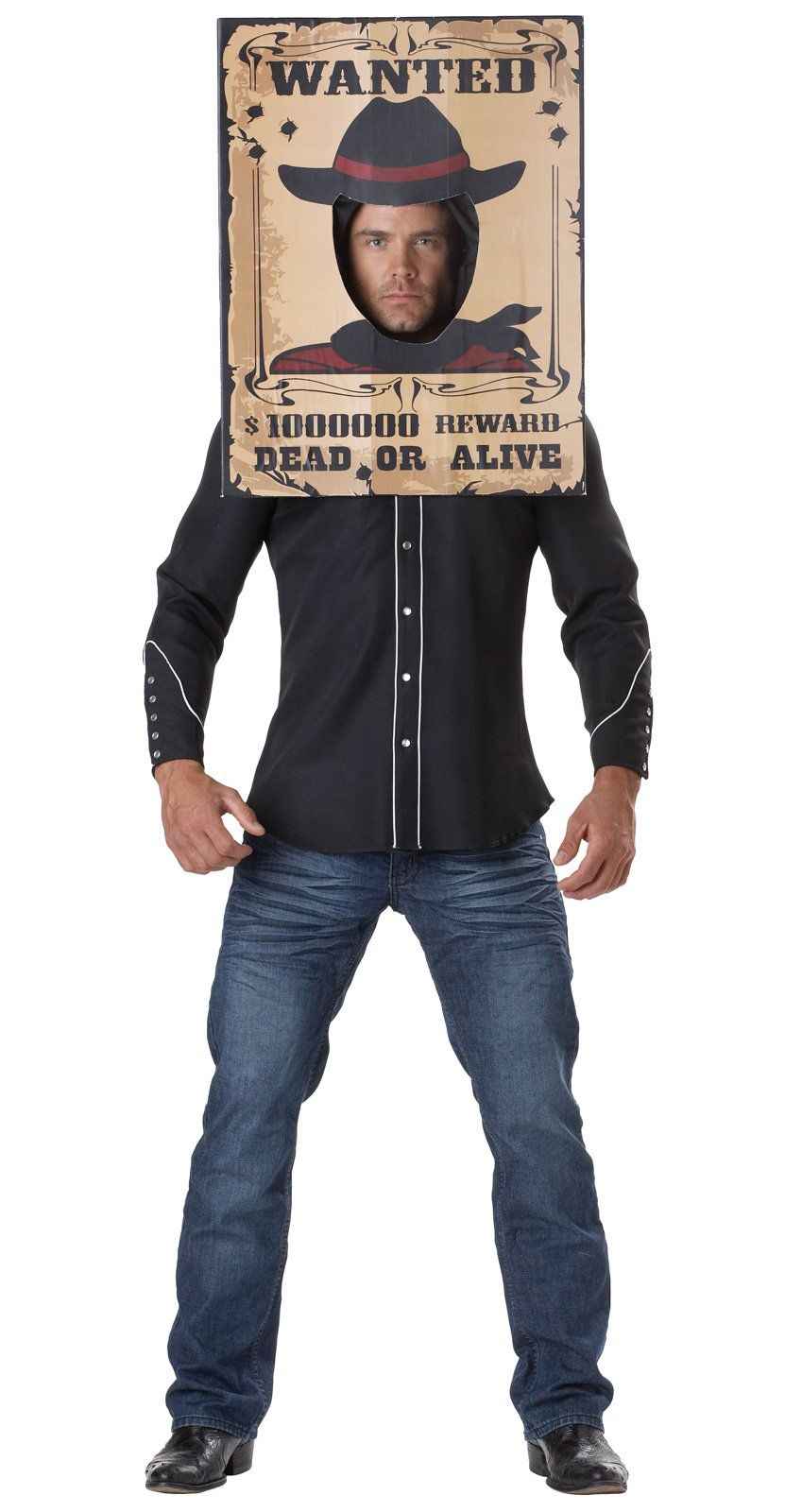 Wanted poster costume halloween in 2019 cowgirl costume adult costumes boys cowboy costume - Wild west funny ...
