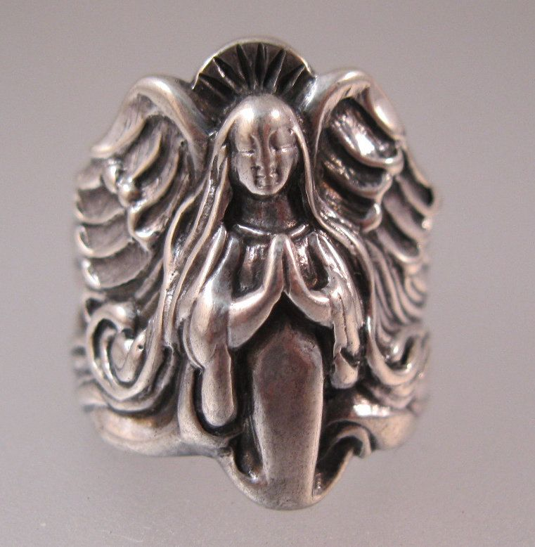 $89.00 Vintage James Avery Angel Band Ring Sterling Silver ...