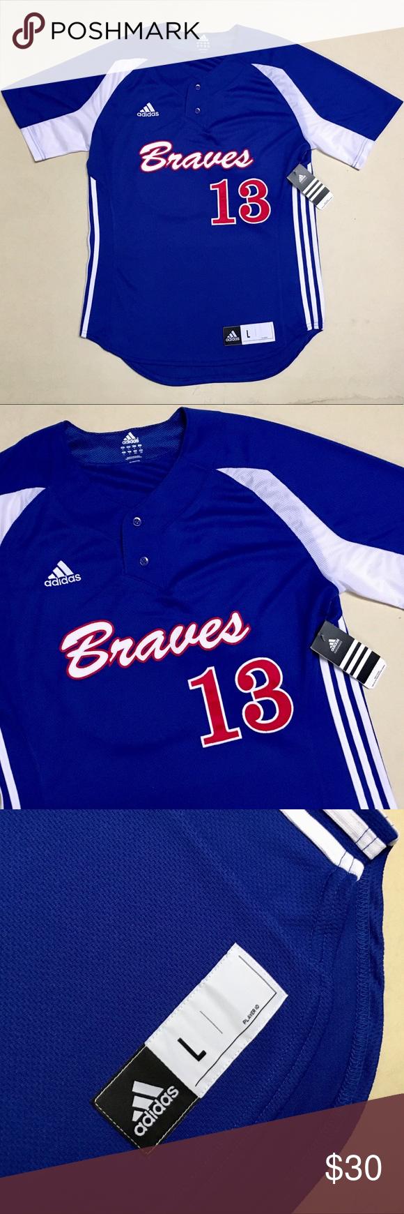 Vintage Atlanta Braves New Adidas Men S Jersey Nwt With Images Adidas Men New Adidas Atlanta Braves