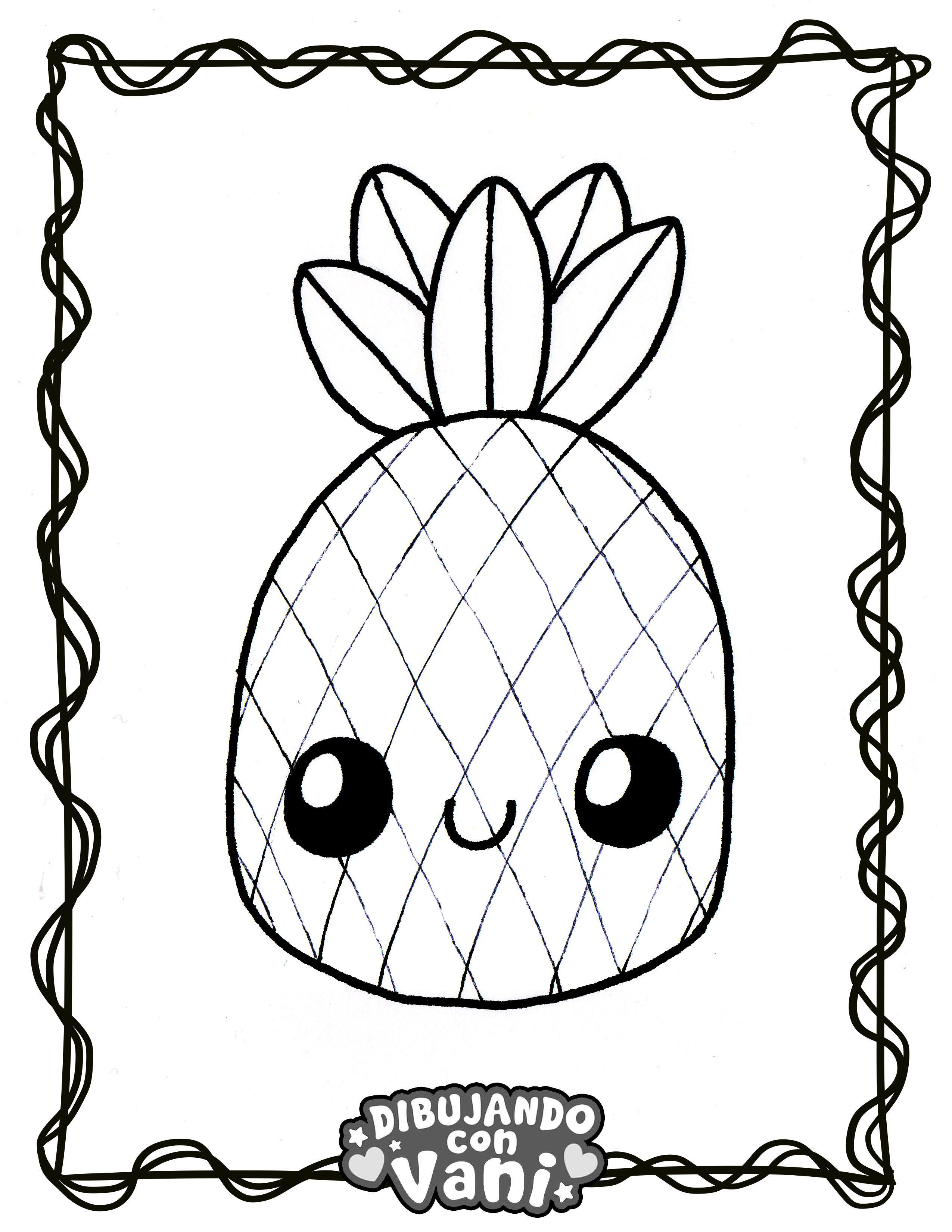 Pina Kawaii Dibujos Para Colorear Dibujos Y Dibujo De Pina