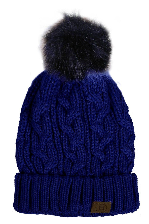 373d33fc5 Women/Men's Winter Fur Ball Pompom Beanie Cozy Knit Hat - Pompom5 ...
