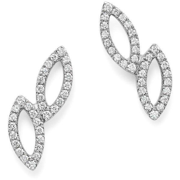 Dana Rebecca Designs 14K White Gold Lori Paige Earrings with Diamonds ($1,465) ❤ liked on Polyvore featuring jewelry, earrings, white, diamond earrings, white jewelry, 14k white gold earrings, diamond jewellery and 14k earrings