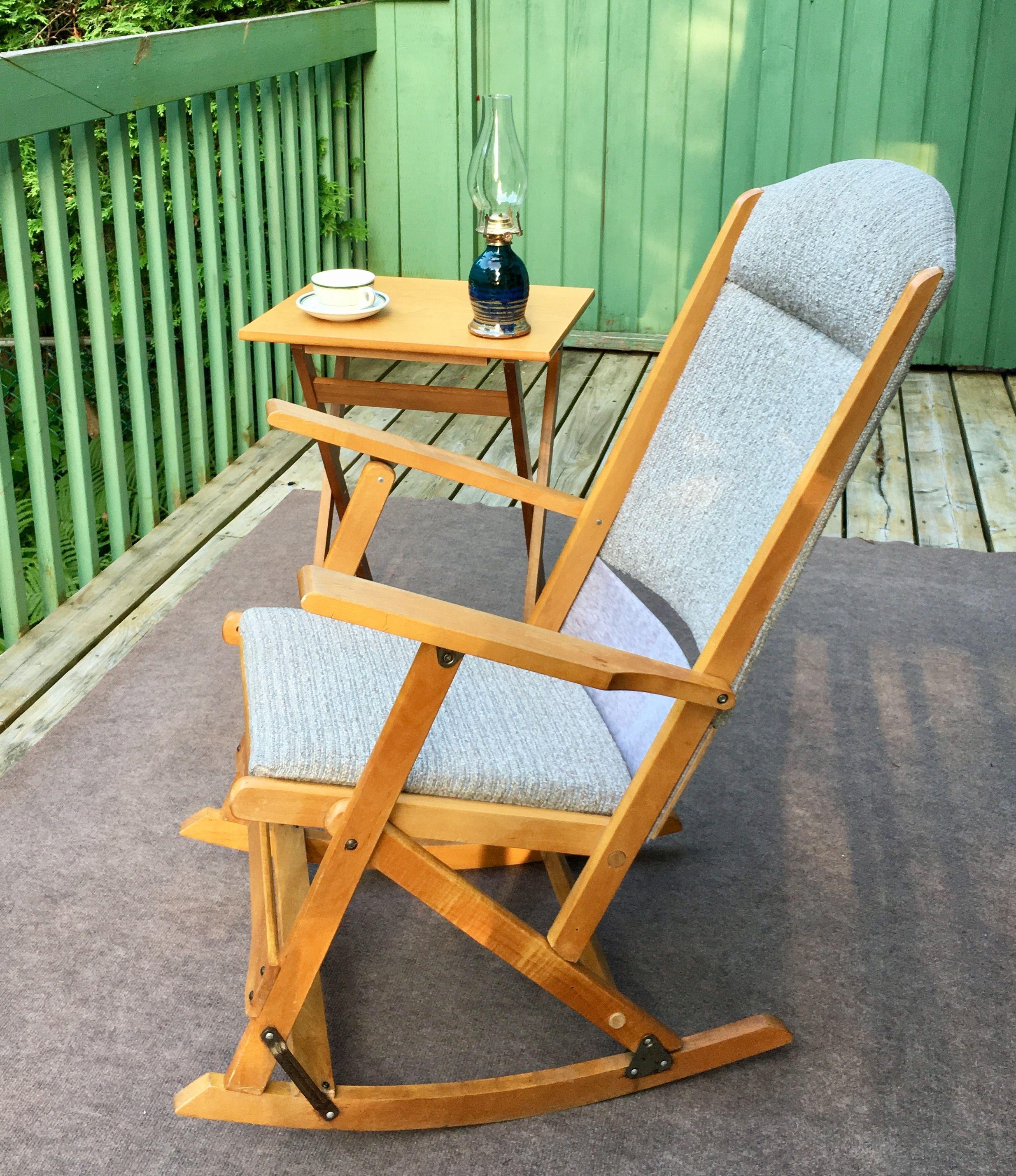 Folding Rocker Rocking chair, Outdoor chairs