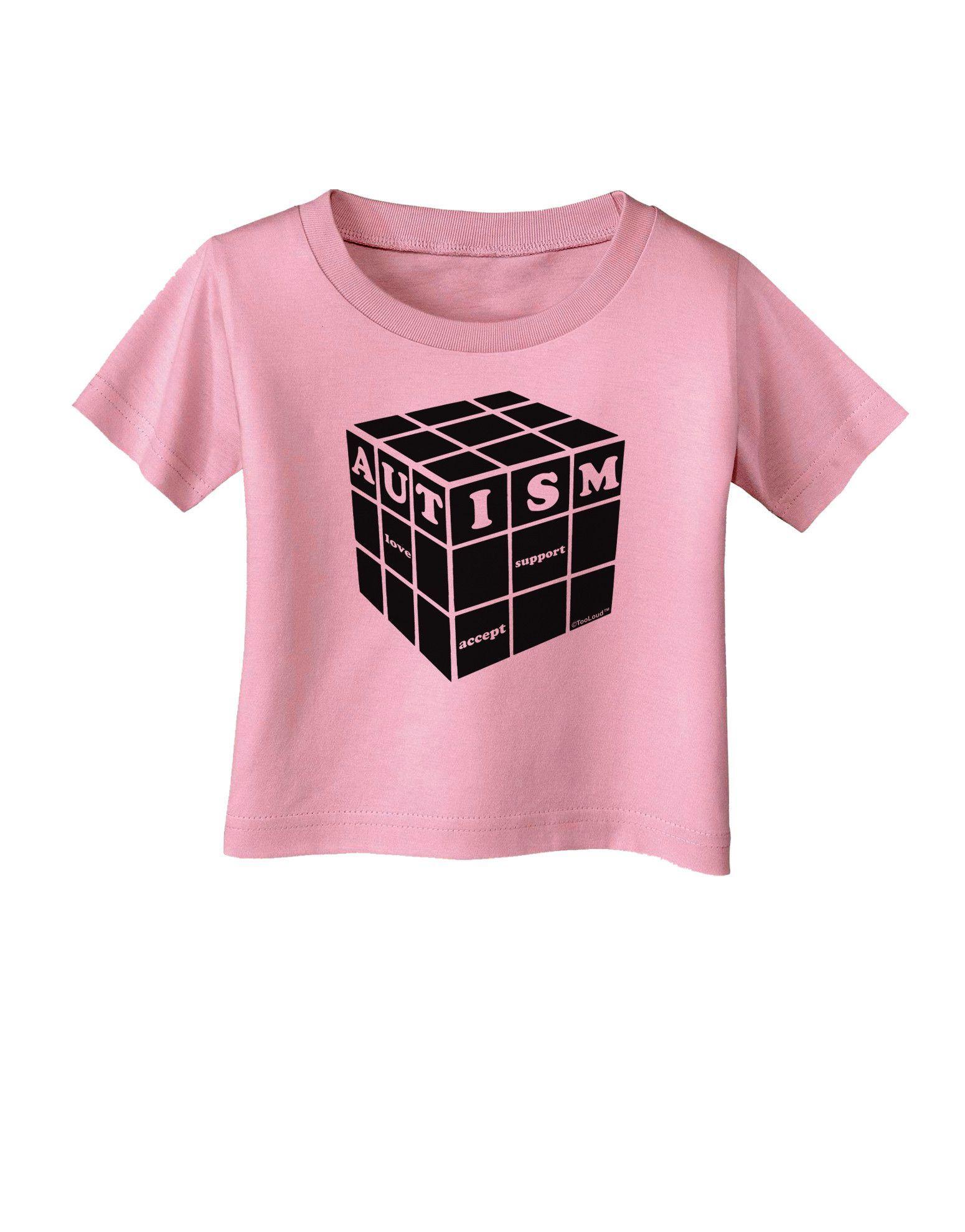 Autism Awareness - Cube B & W Infant T-Shirt