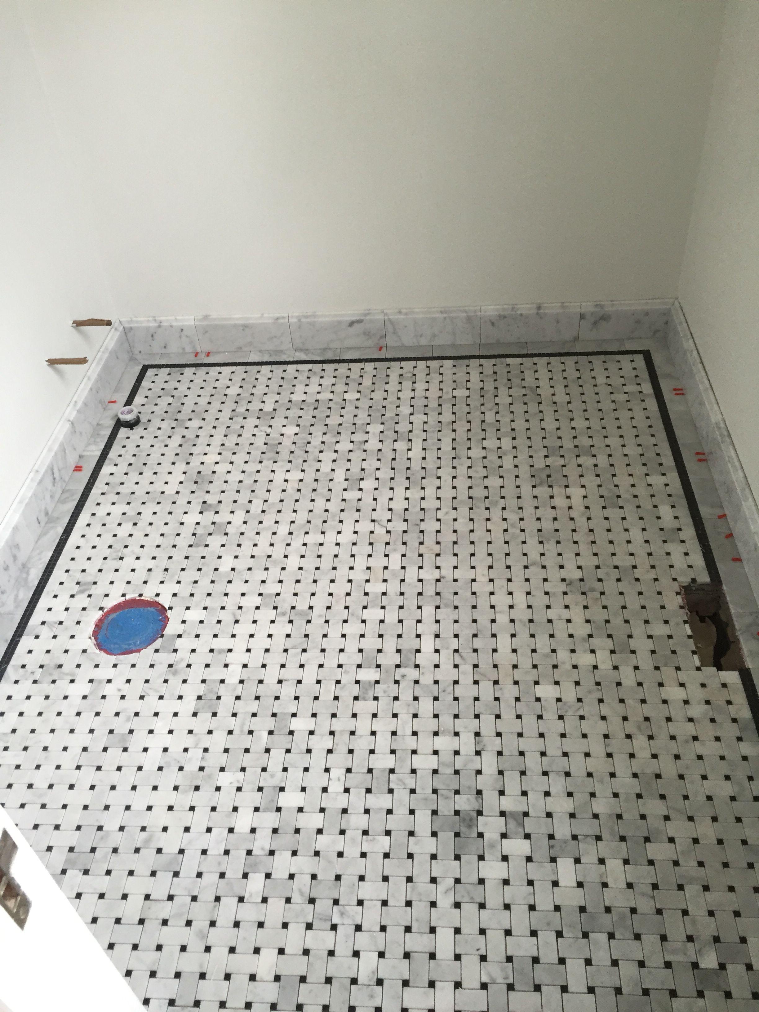 basketweave tile bathroom. GUEST BATHROOM - Basketweave Tile In Marble From Akdo. Carrera 3\ Bathroom