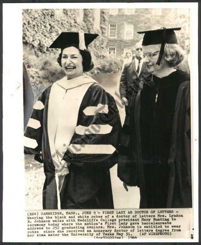 First woman to earn a Doctor of Letters degree - Lady Bird Johnson