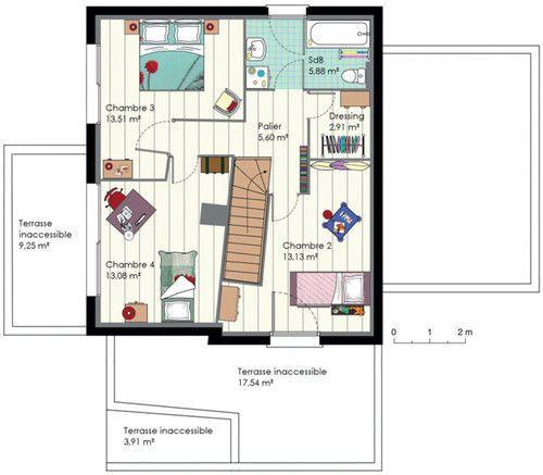 plan de maison famille nombreuse