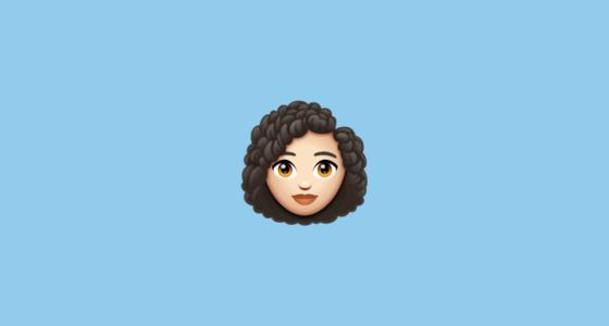 The Woman Light Skin Tone Curly Hair Emoji Is A Zwj Sequence Combining Woman Light Skin Tone Zero Widt In 2020 Light Skin Light Skin Tone Curly Hair Styles