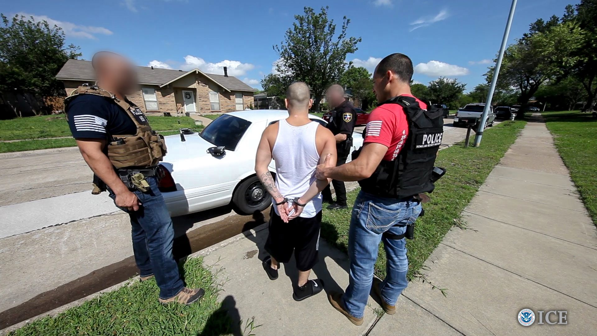 A nationwide anti-gang operation led to the arrest of nearly 1,400 transnational and local gang members, including more than 200 in the Houston and Corpus Christi areas, federal officials said Thursday.