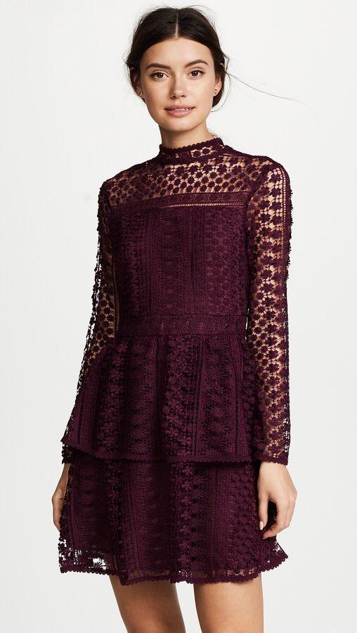 Long sleeve black dress cashmere