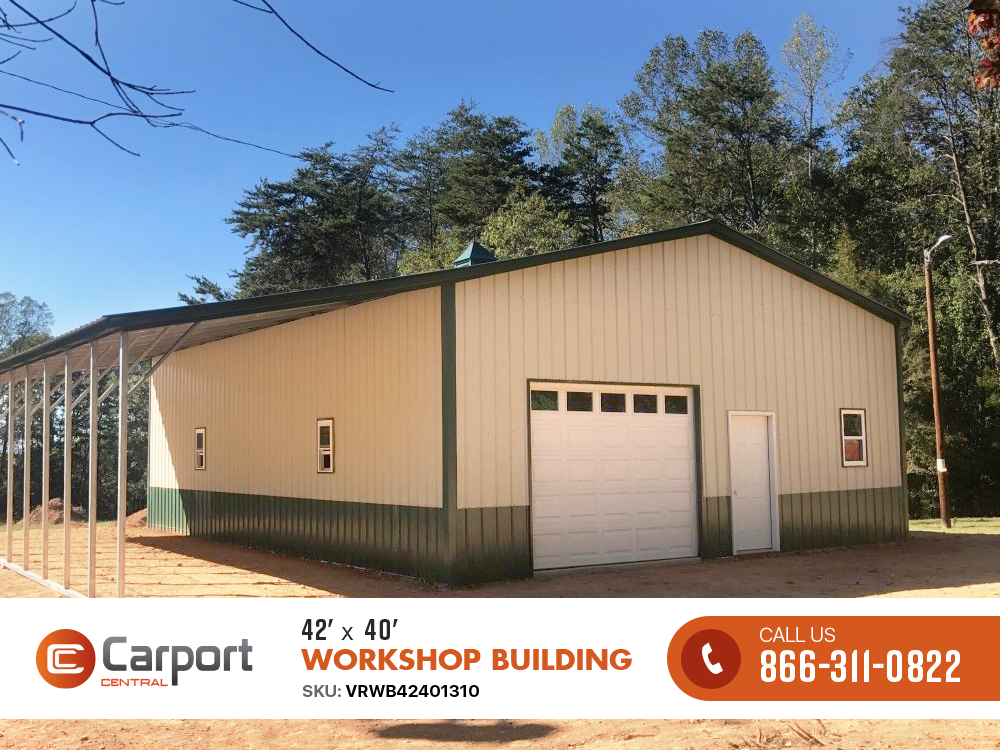 42 40 Workshop Building With Images Metal Building Prices