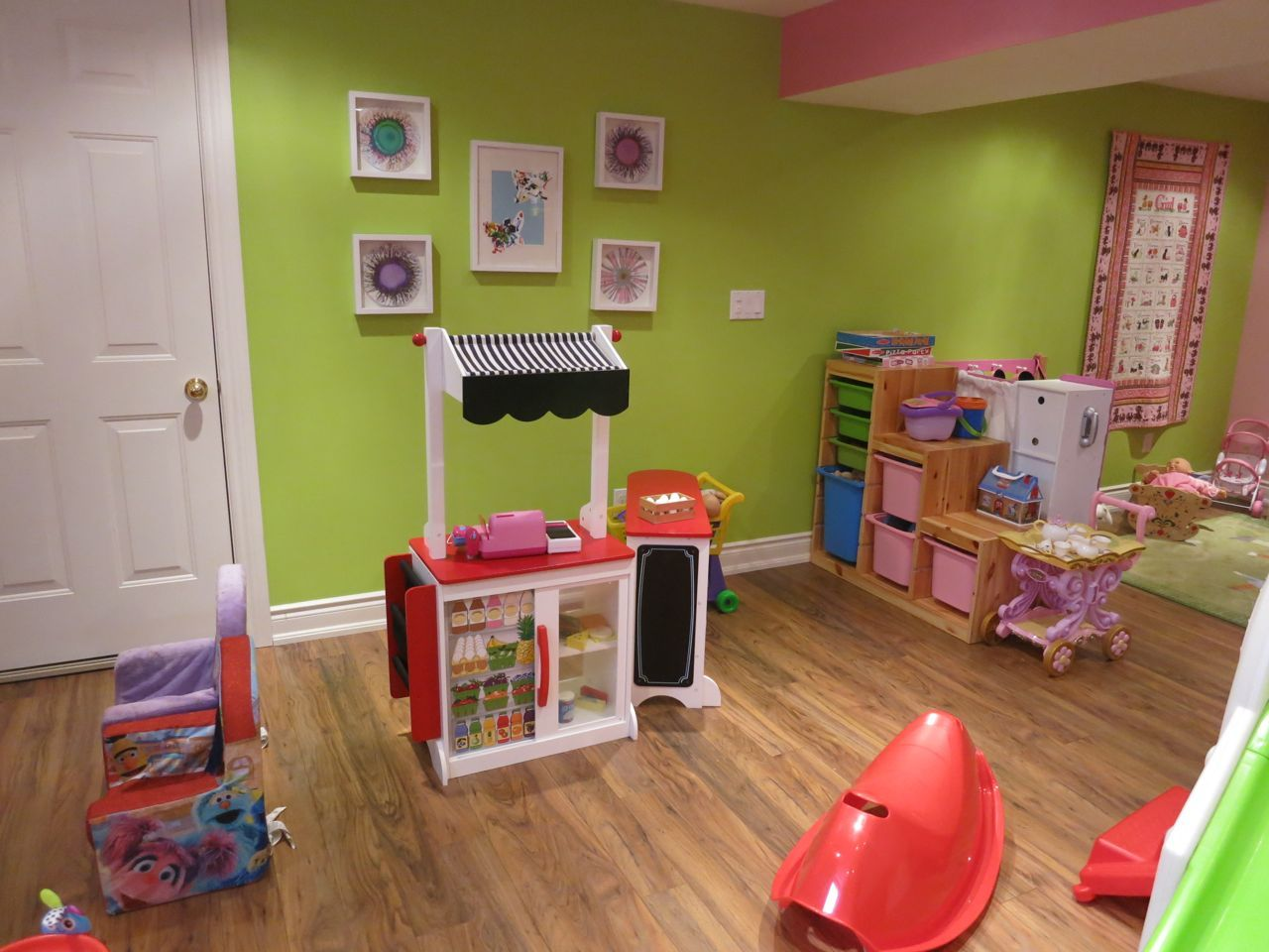 Kids Corner Stage, Rain Gutter Book Shelves, Kids Playroom Part 72