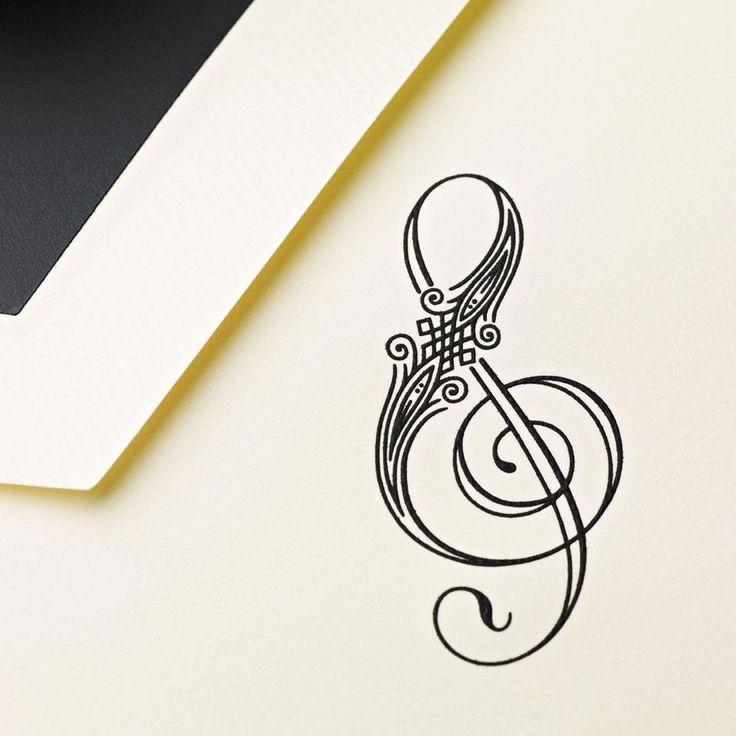 treble cleft tipografia pinterest clef tattoo and tatoos. Black Bedroom Furniture Sets. Home Design Ideas