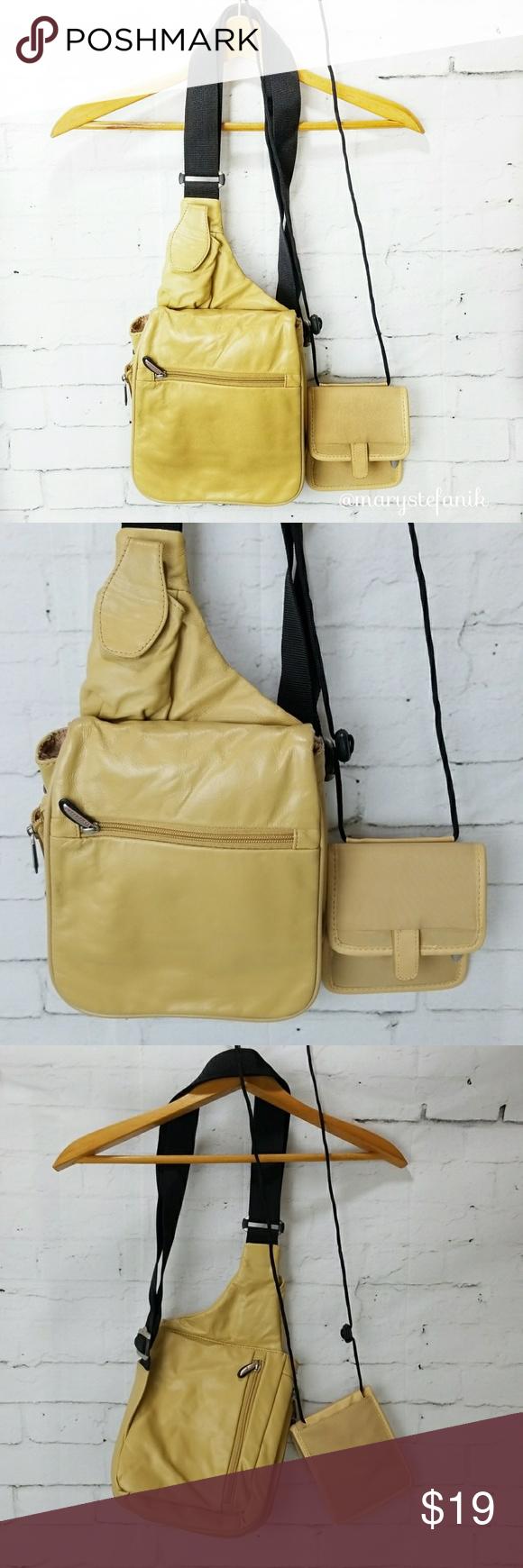 Cross Body Bags · Travelon Travel Easier Tan Leather Sling Bag Set Travelon  Travel Easier Tan Leather Sling Bag Set 8ae9dc17f3