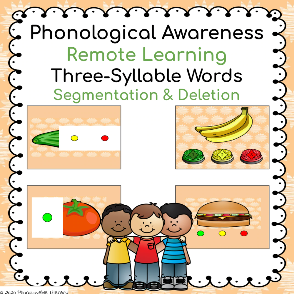 Distance Learning Phonological Awareness Three Syllable Words Phonological Awareness Phonological Awareness Activities Phonology [ 1000 x 1000 Pixel ]