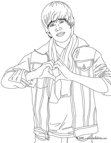justin bieber love sign coloring page more famous people coloring sheets on hellokidscom