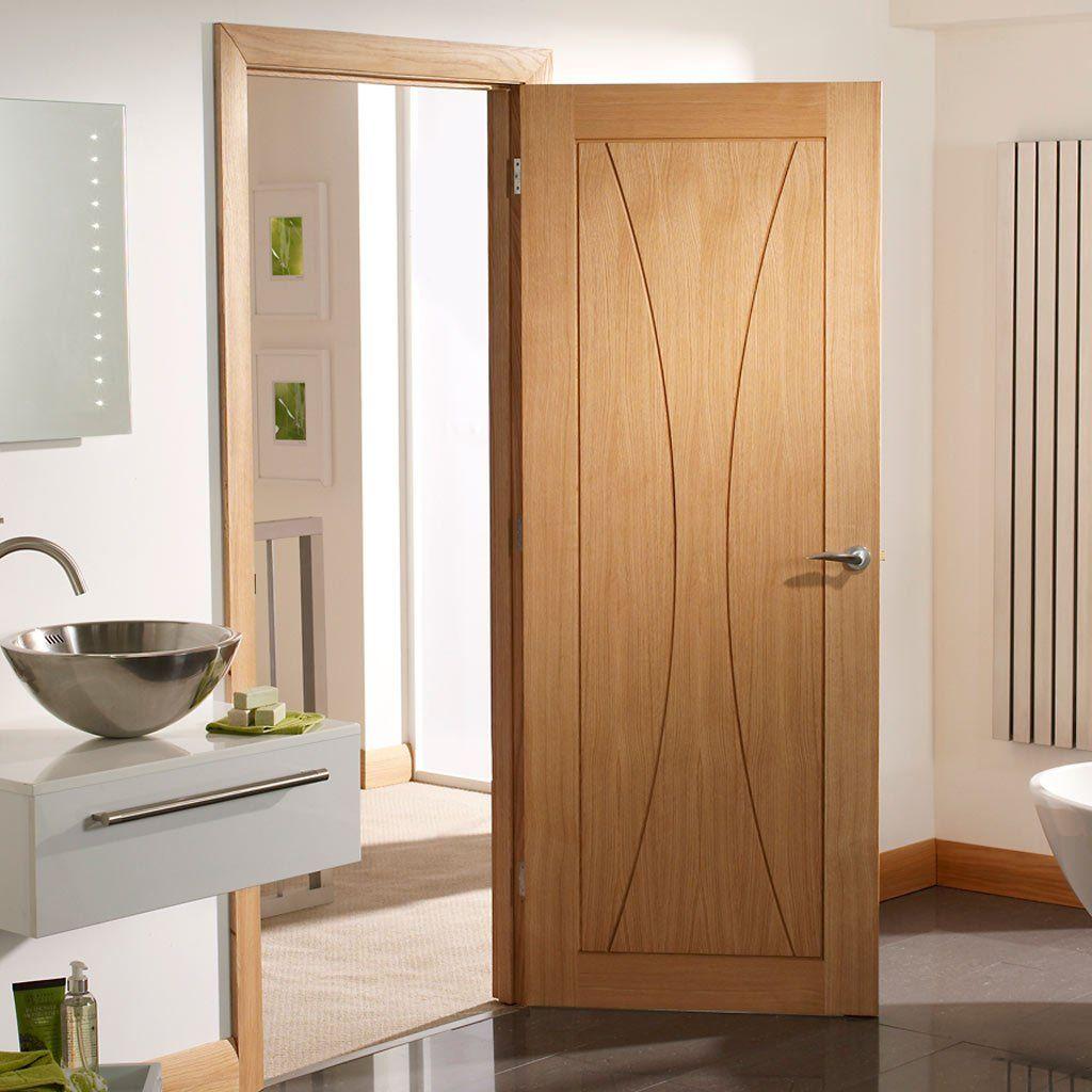 Door And Frame Kit Verona Oak Flush Door Prefinished Internal Oak Doors Simple Bathroom Renovation Doors Interior