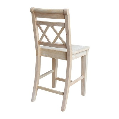 Canyon 24 Counter Height Stool Unfinished International Concepts Wood
