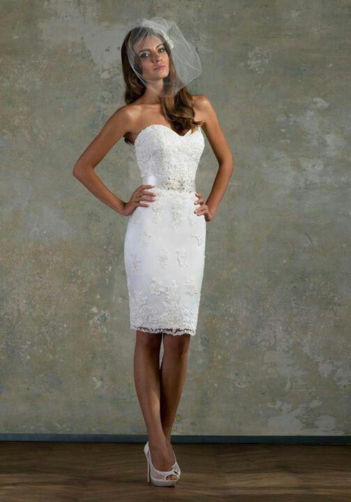 Cheap courthouse short wedding dresses