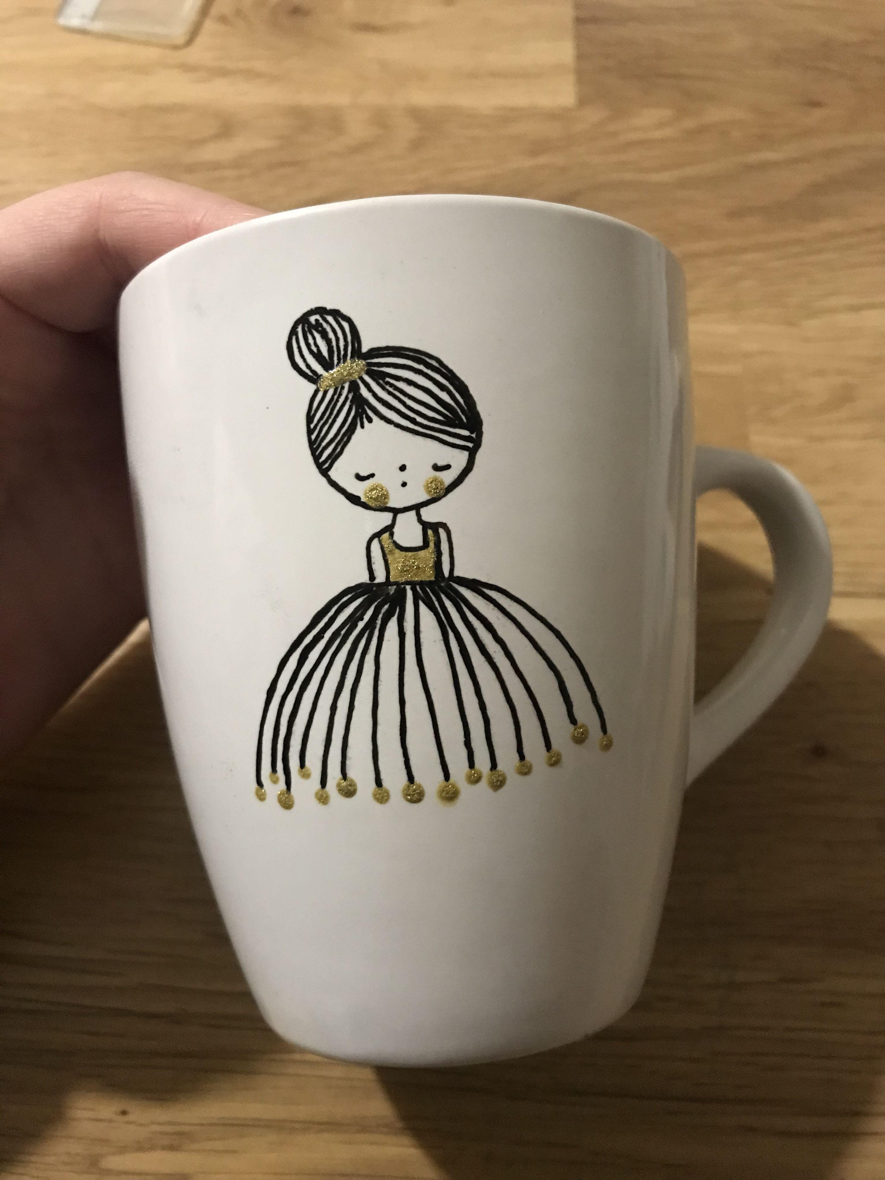 danseuse sur porcelaine tasses