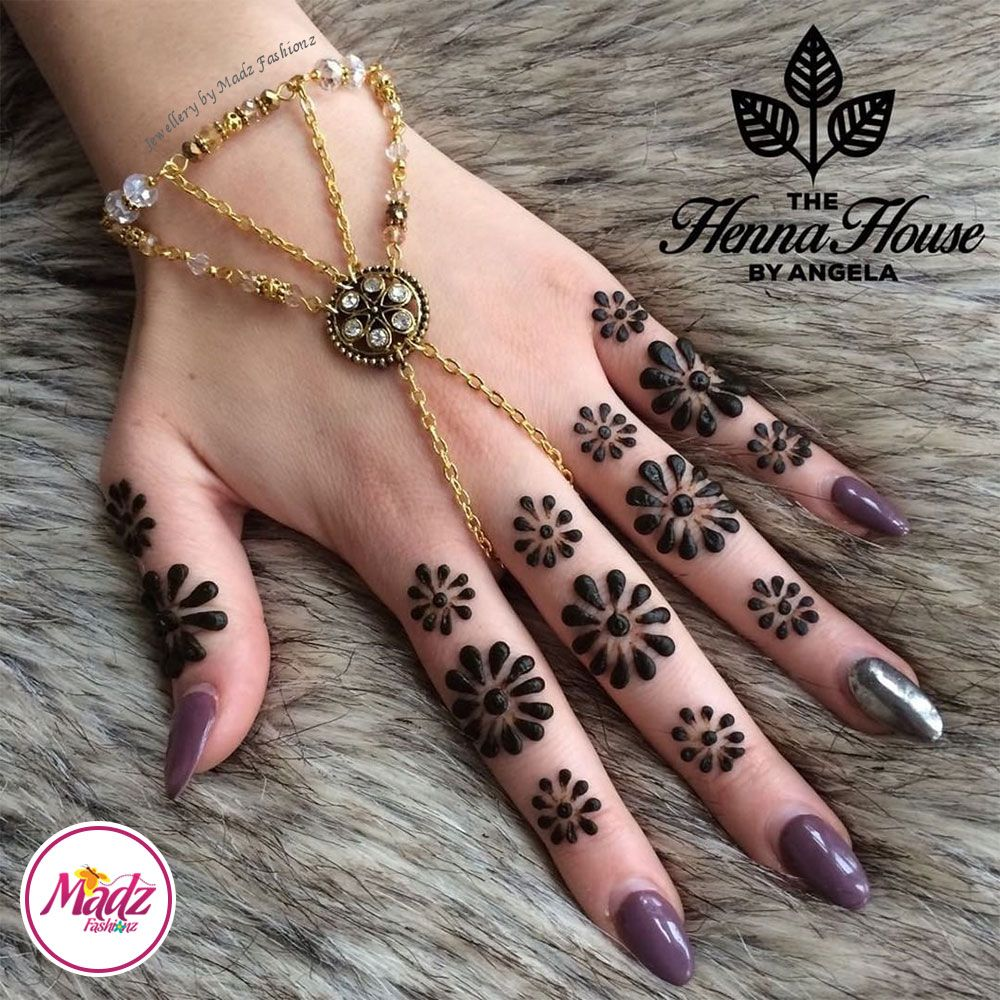 Hennabyang kundan bridal hand chain bracelet hennas pinterest