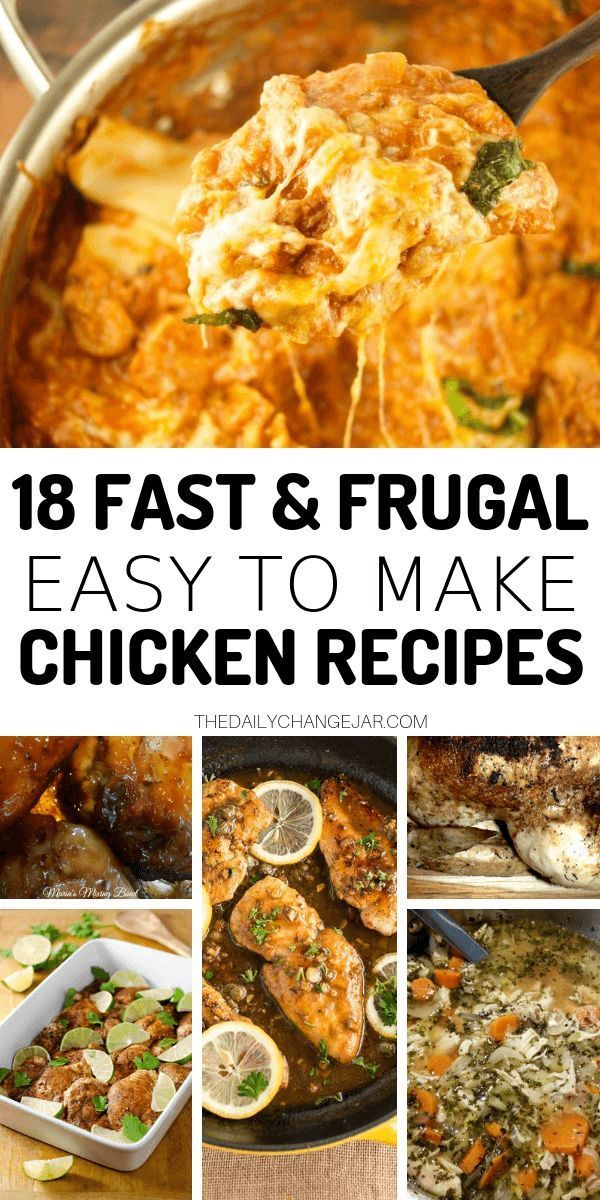 18 MORE Frugal Dinners for When You're Broke (The Chicken Edition) images