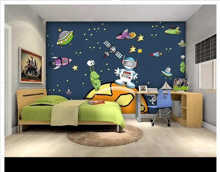 Custom Mural 3d Non Woven Wallpaper Cartoon Universe Of Large Mural