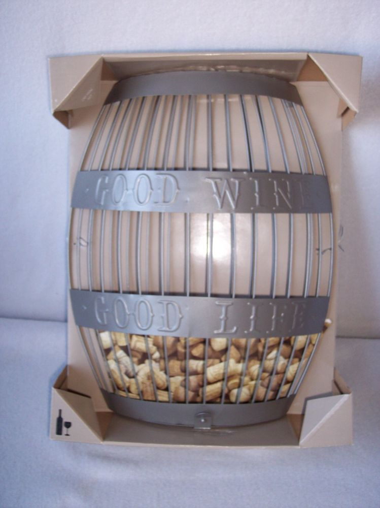 Wall Mounted Wine Barrel Cork Holder Good Wine Good Life