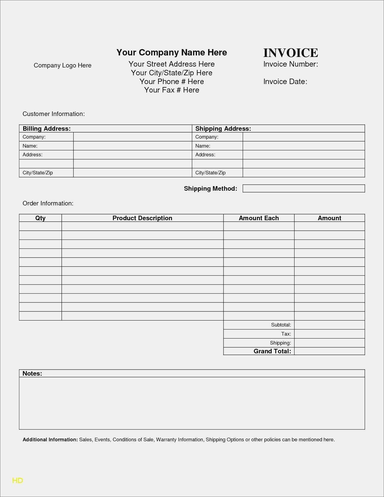 New Printable Invoice Templates Xls Xlsformat Xlstemplates Xlstemplate Check More At Https Mavensocial Co Printable Invoice Templates