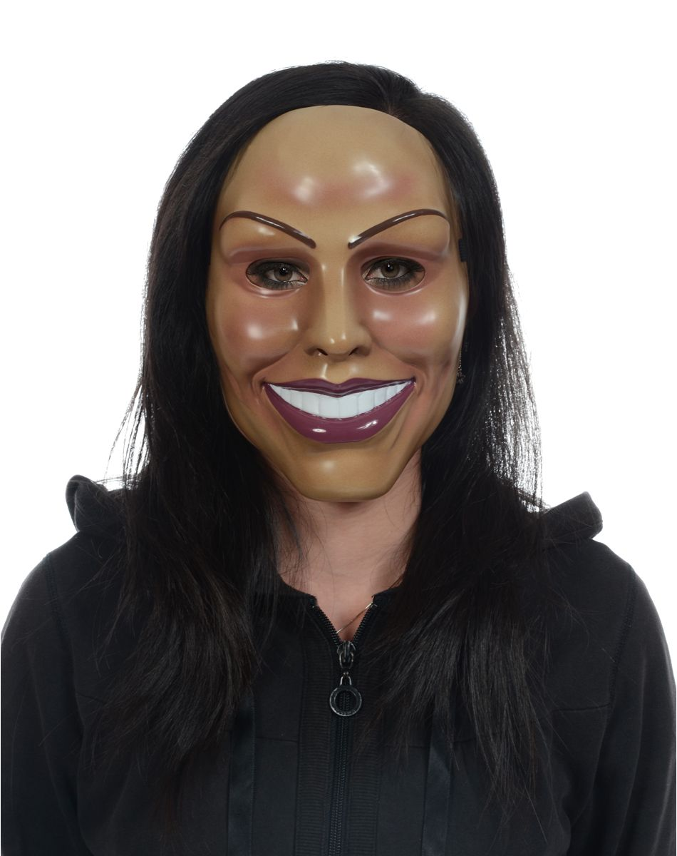 Smiling Woman Mask from Spirit Halloween. Very closely resembles ...