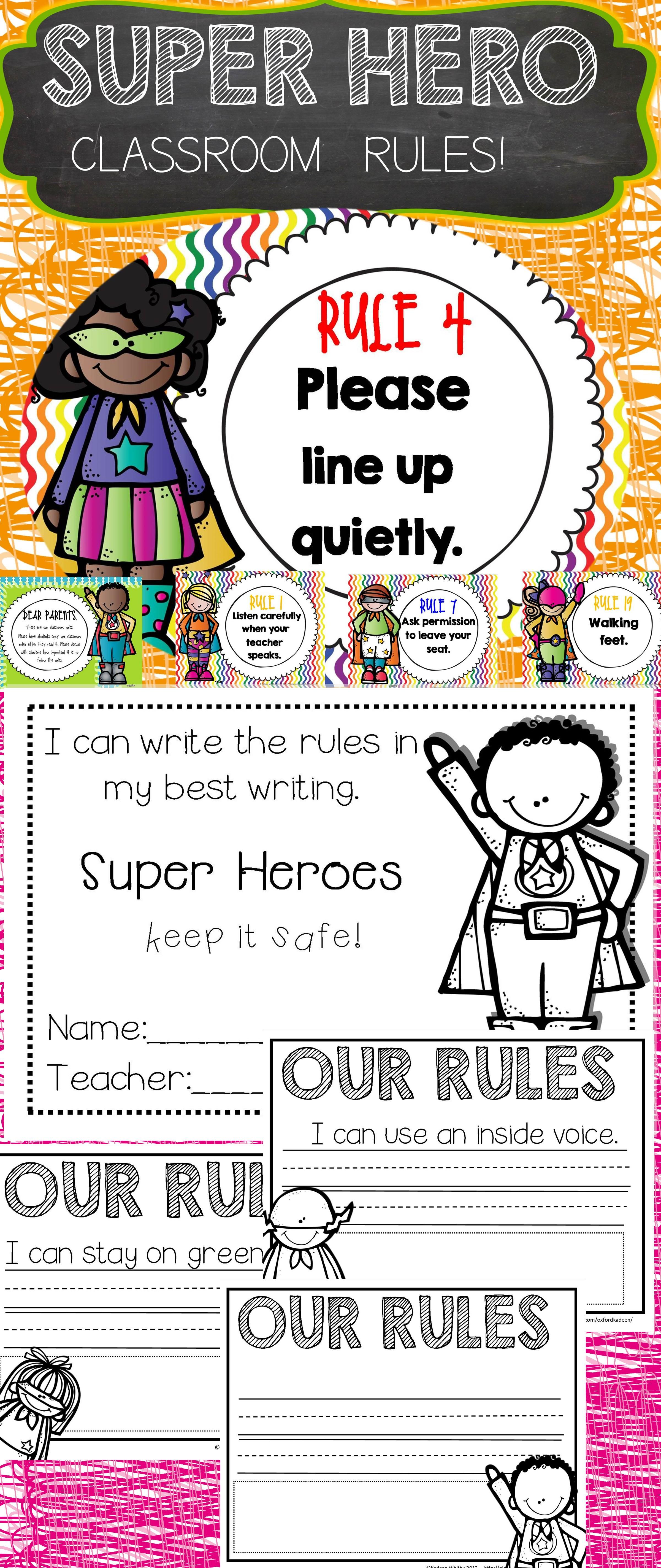 Back To School Classroom Rules