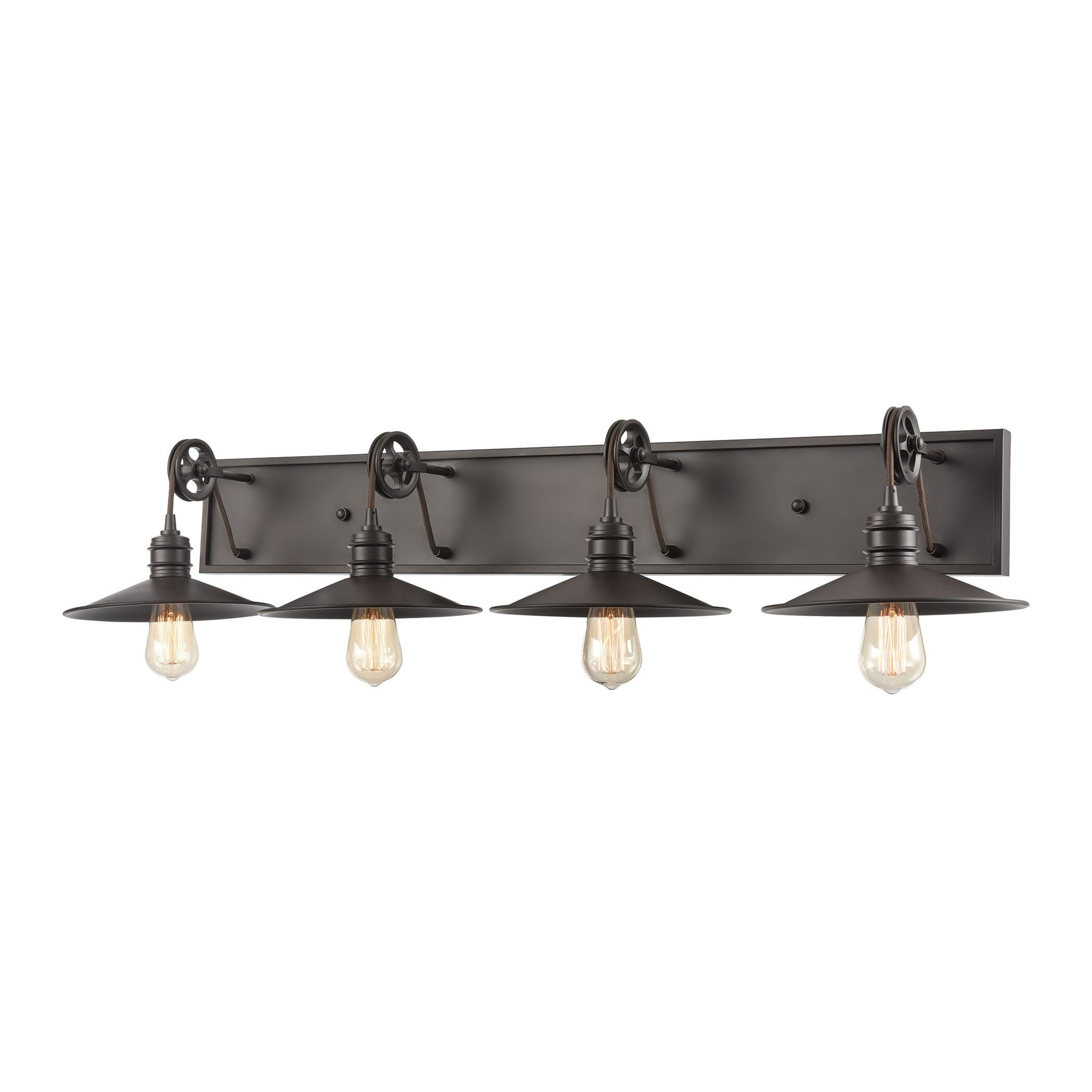 "Photo of ELK spindle wheel 4-Light 42 ""bathroom Vanity Light rubbed in oil bronze"