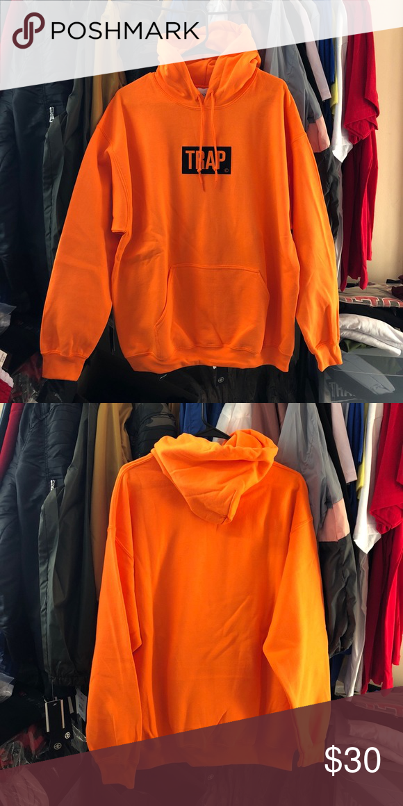 a064670cd4e6 Trap Bogo Hoodie - Neon Orange SuperlineATL Exclusive print 50% Cotton 50%  Polyester Men s sizing True to size Size up for a looser fit Finished in  USA ...