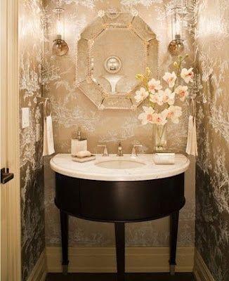 Glam Powder Room Glam Powder Room Modern Bathrooms Powder