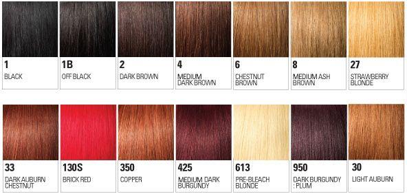 Hair Color Chart  PlaitsCom  Hair    Plaits And Hair