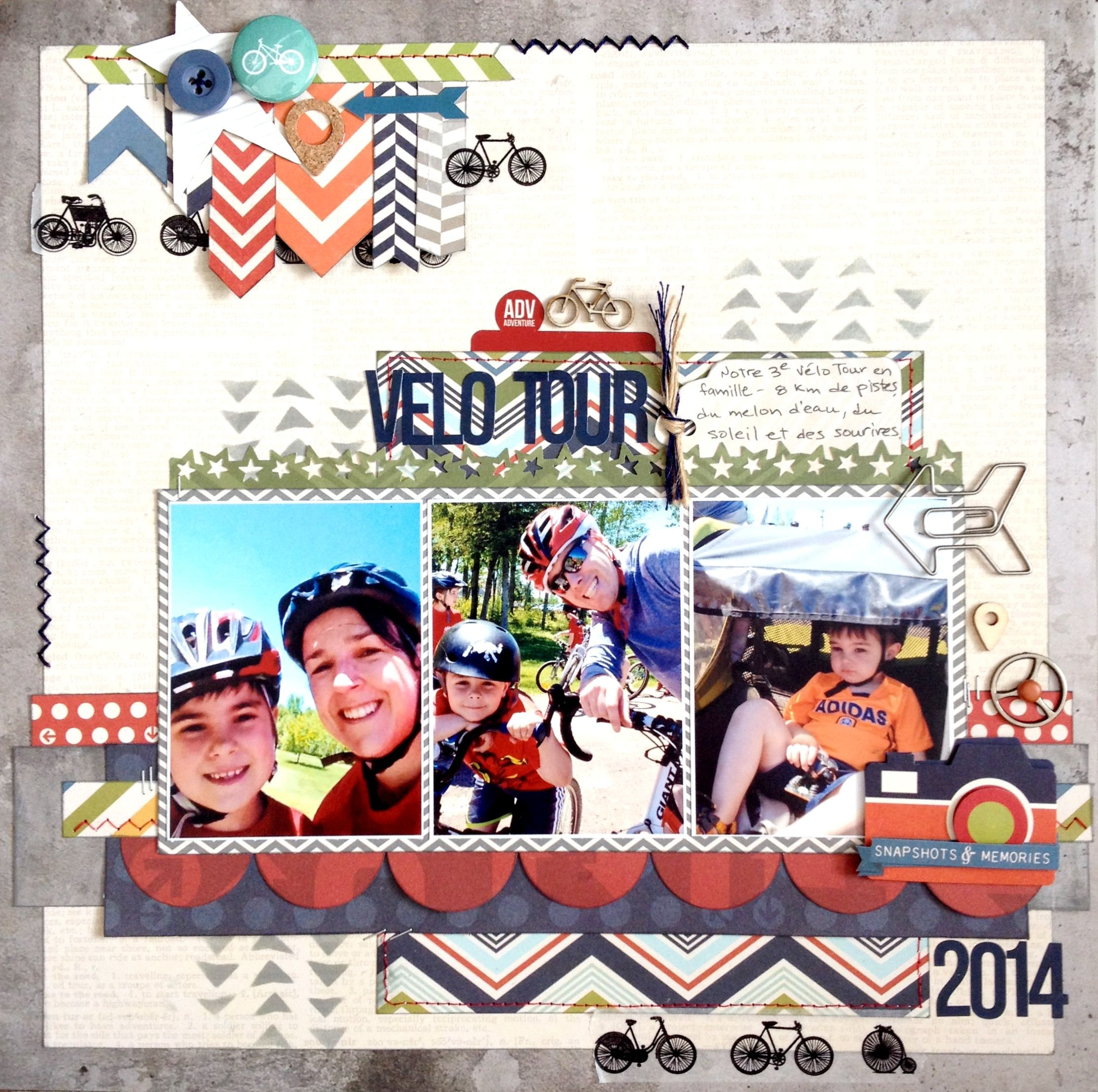 V�lo Tour 2014 - Simple Stories - Urban Traveler Collection