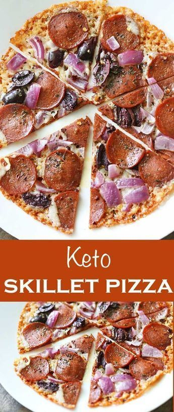 Keto Skillet Pizza  a healthy version of pizza for maximum taste and good health too Low carb and free of refined flours