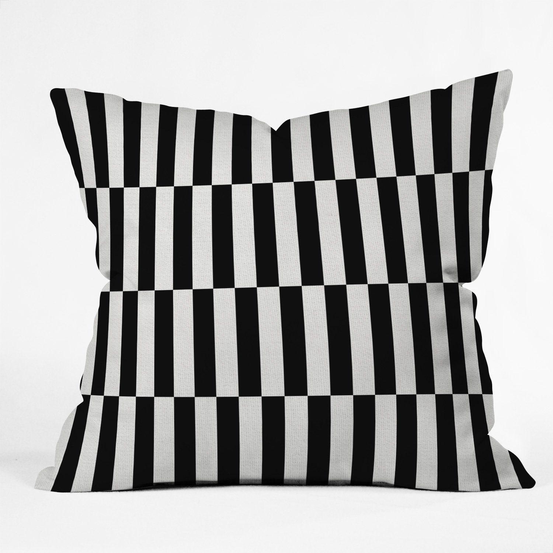 Black And White Order Throw Pillow Bianca Green Throw Pillows Pillows Outdoor Throw Pillows