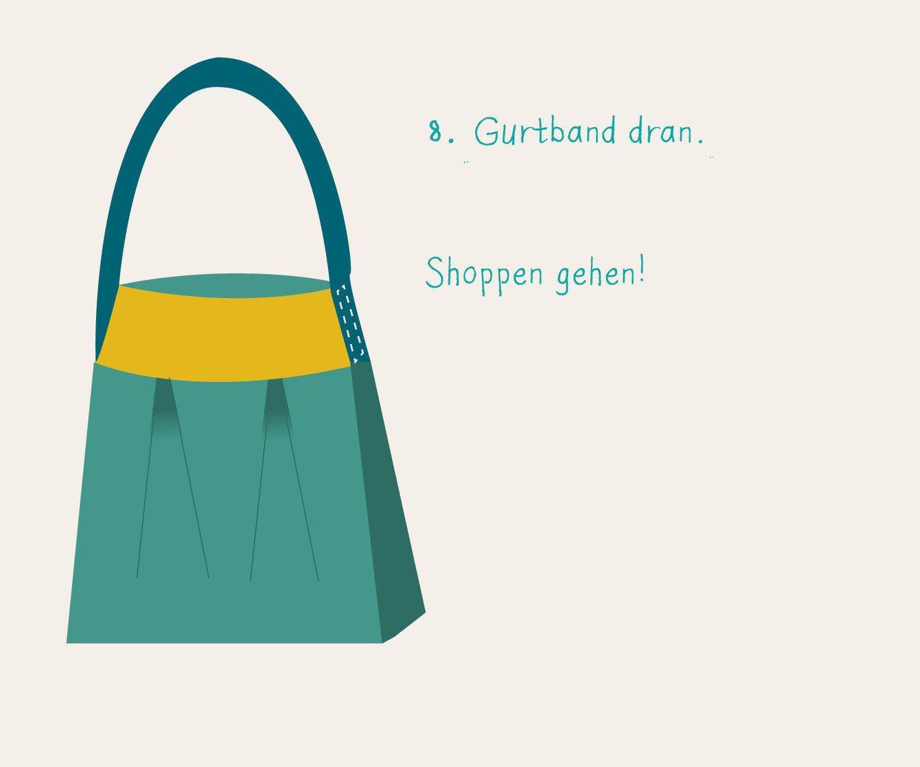 """XXL Shopper oder auch """"Michis-Markt-Tasche"""" selber nähen"""