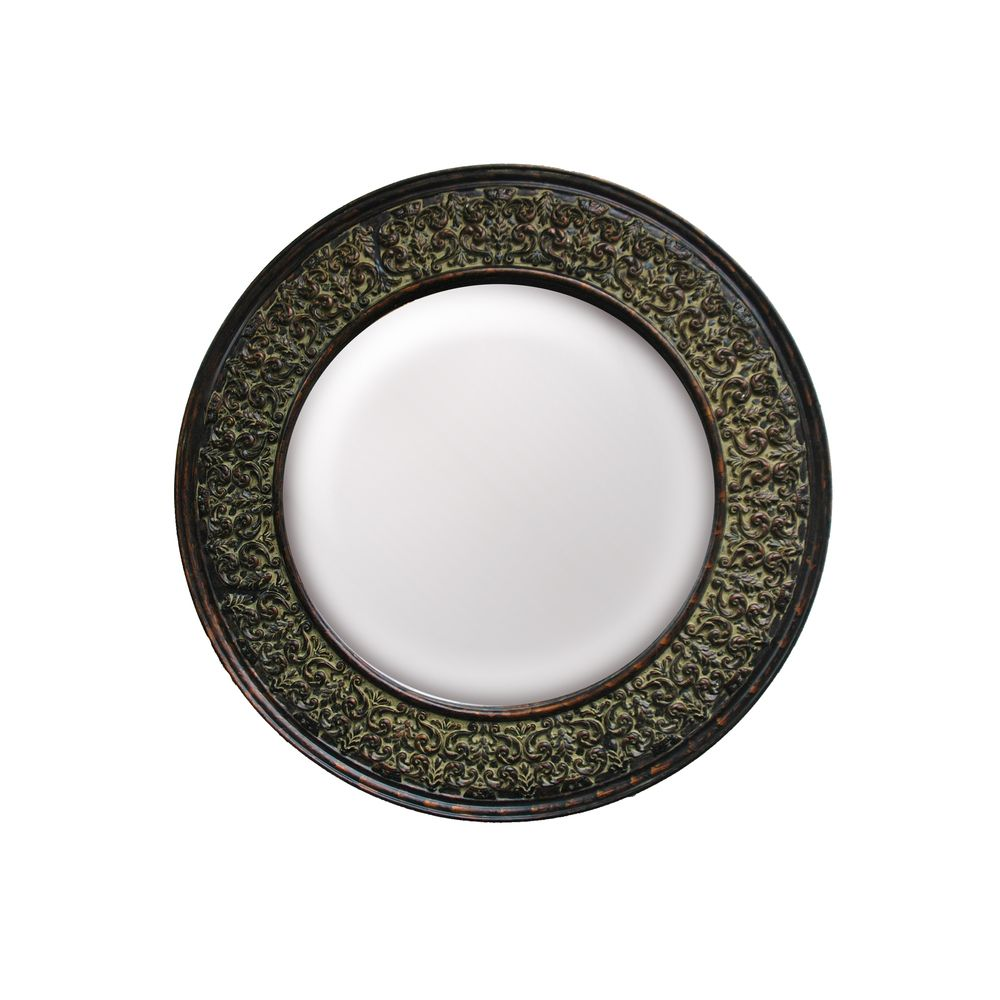 Round framed dark gold wall mirror overstock entry way round framed dark gold wall mirror overstock amipublicfo Choice Image