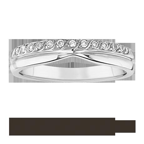 for her ladies 0 09 total carat weight diamond wedding ring in 9 carat white gold