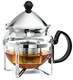 #9: Chefs Star Functional Infuser Tea Maker  Premium Stainless Steel Tea Infuser  Heat Resistant Glass