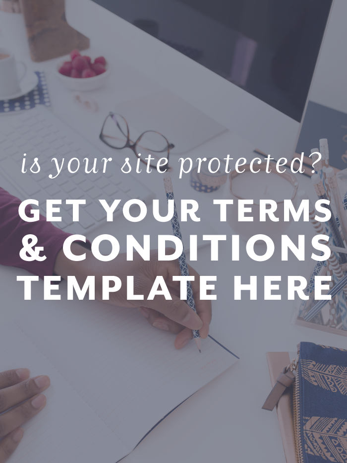 do you have terms and conditions or a privacy policy on your website or blog