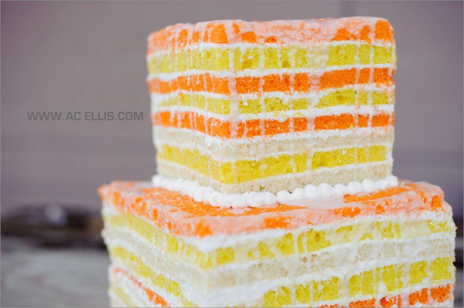 orange and yellow naked cake by The Cake Lady | Wedding Cakes ...