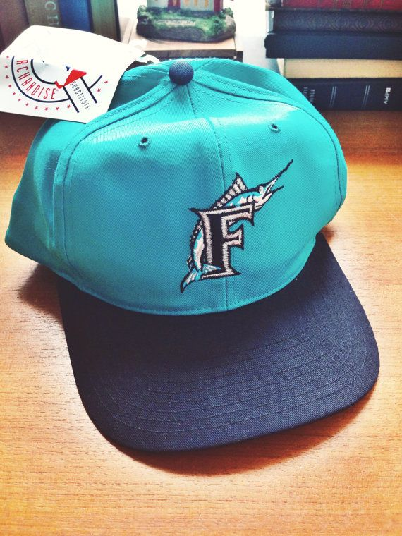 buy popular fd521 a33f1 Vintage Florida Marlins Snapback Cap 90 s NWT by  SchmidtDryGoodsCo,  24.96
